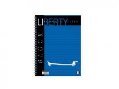 Caiet spira A4, 80 file, dictando, Pigna Liberty