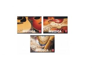 Caiet muzica, 24 file Pigna