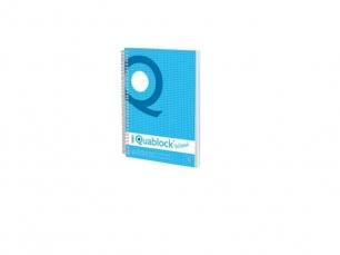 Caiet spira A4 120 file matematica Pigna Quablock