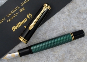 Stilou Souveran M1000 Pelikan Black/Green