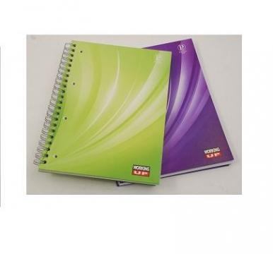 Caiet spira A4 120 file cartonat, matematica, W-Up