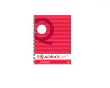Caiet spira A4, 120 file, dictando Pigna Quablock