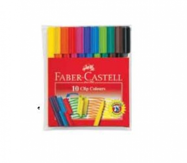 Carioca clip 10/set Faber Castell